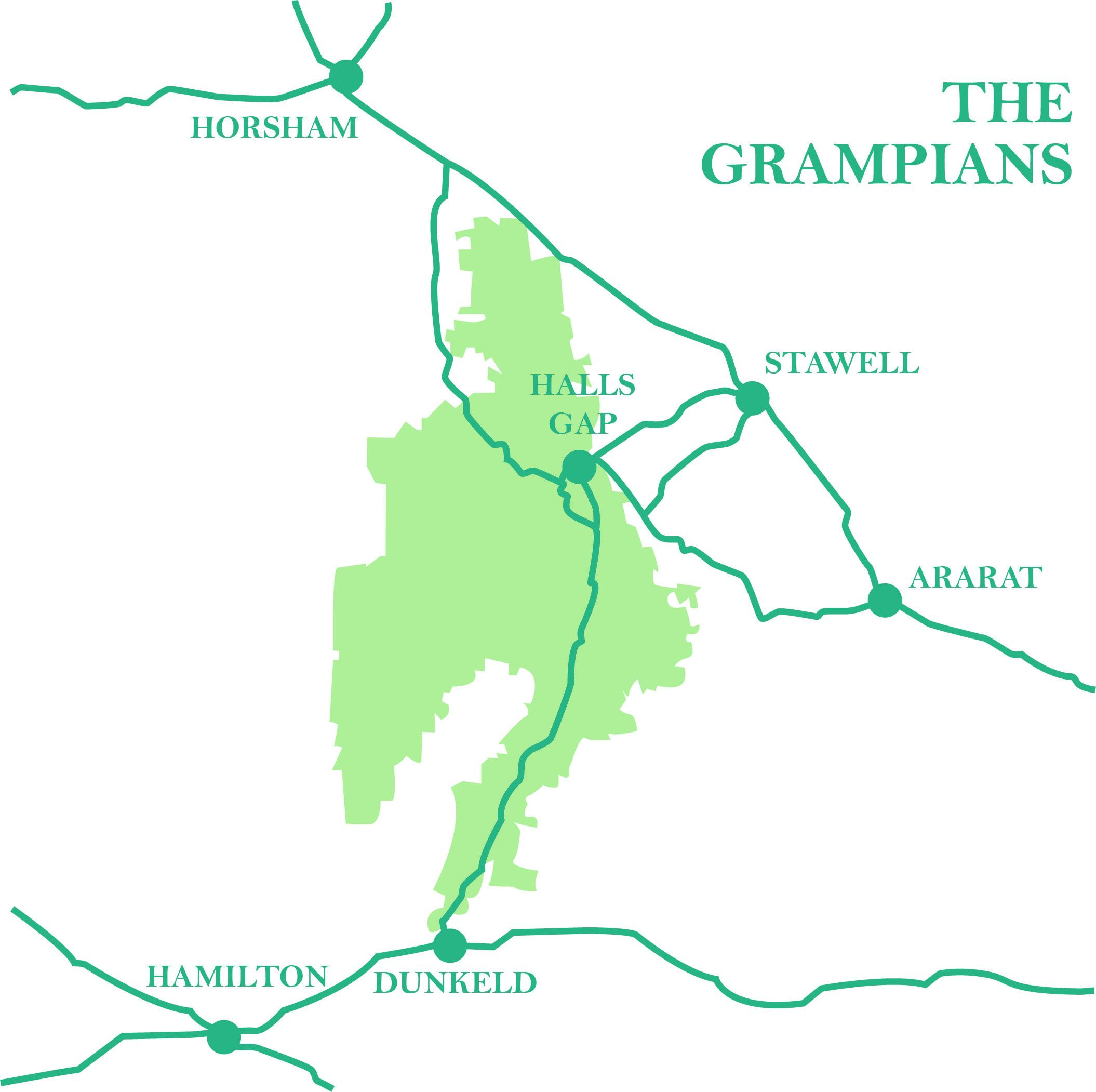The Grampians - Halls Gap - Horsham - Stawell - Ararat - Hamilton - Dunkeld
