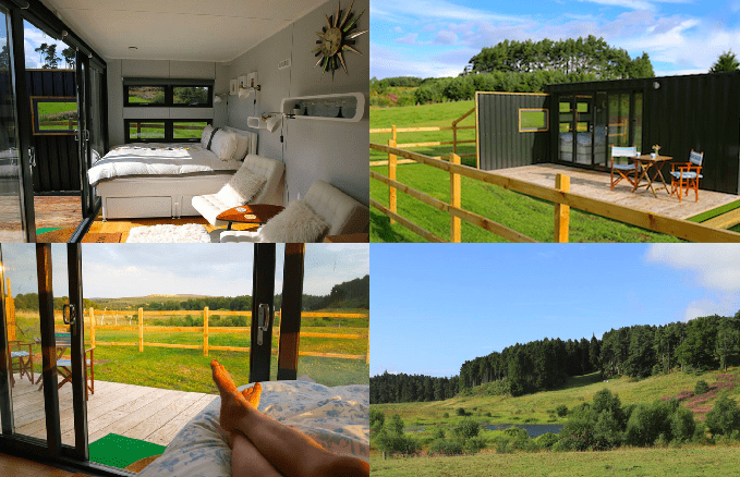 Photos of the Chill Out Container via Airbnb