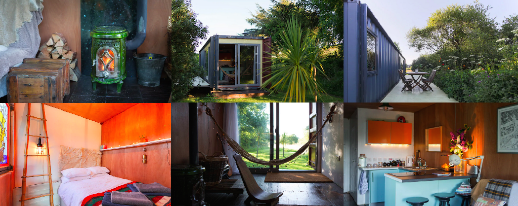 Photos of Shakas House shipping container stay via Airbnb