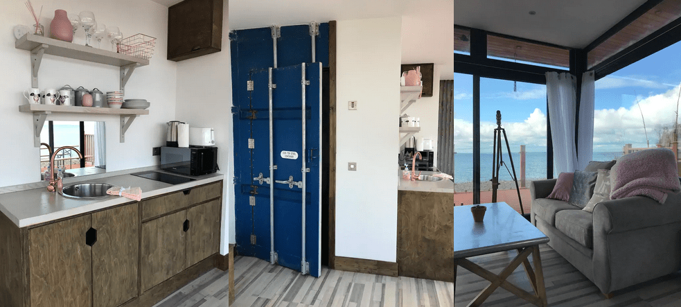 Photos of The Beach House Container via Airbnb