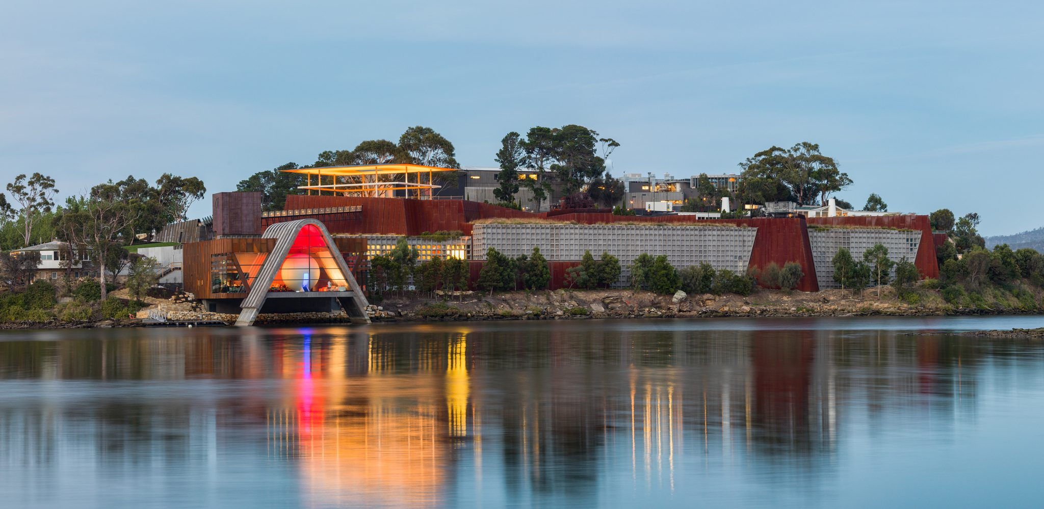 Views of MONA from the River Derwent via MONA.