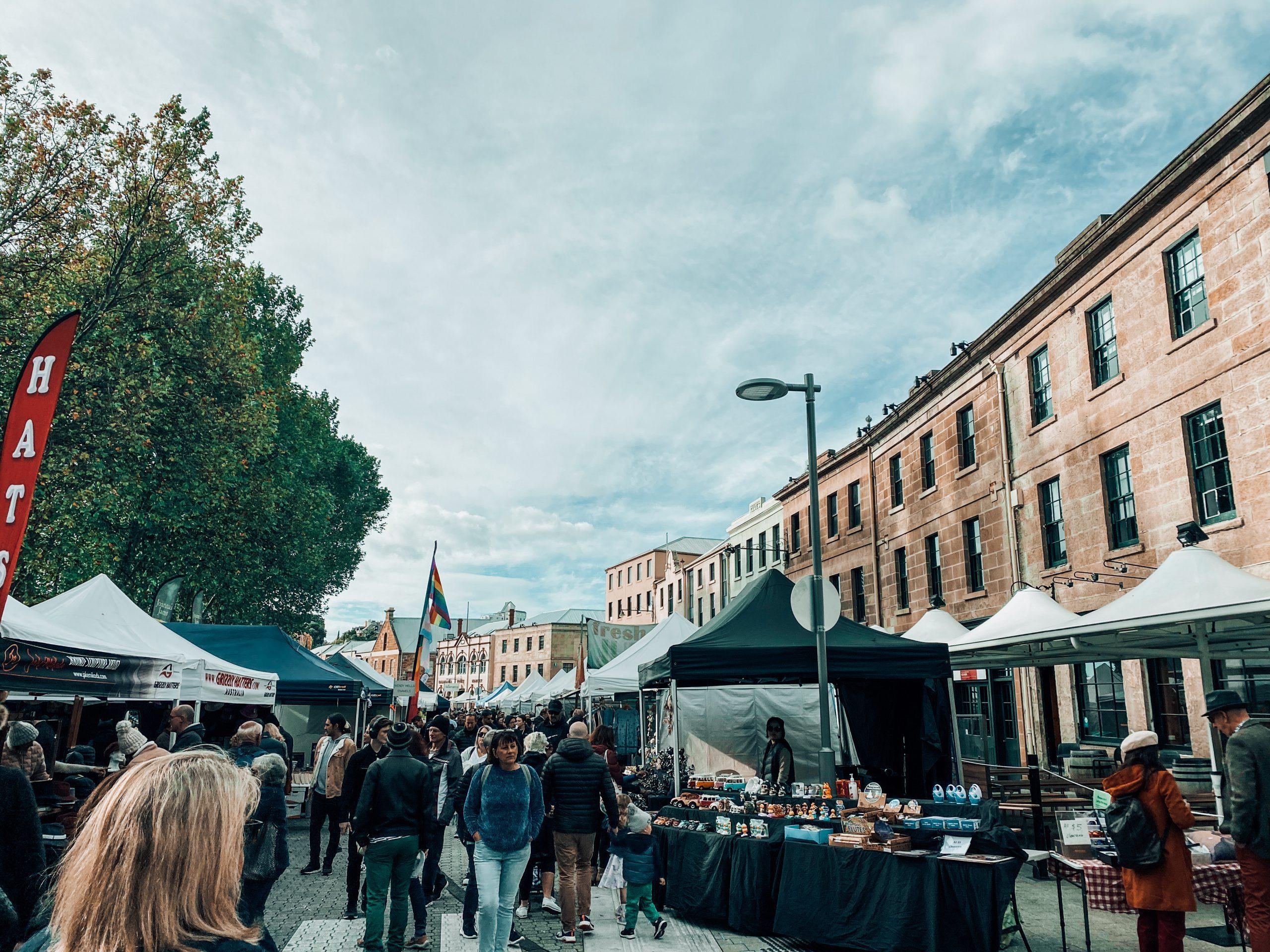 Salamanca Market in Hobart.