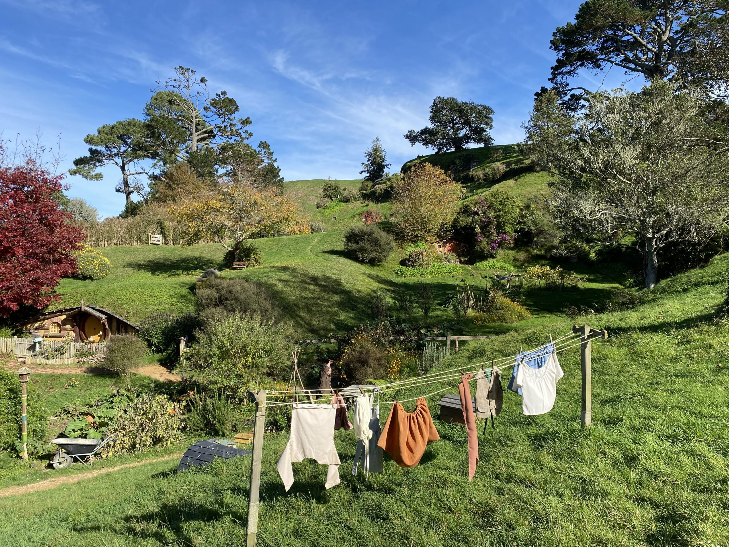 Hobbit Clothes Hanging on the Washing Line at Hobbiton Movie Set