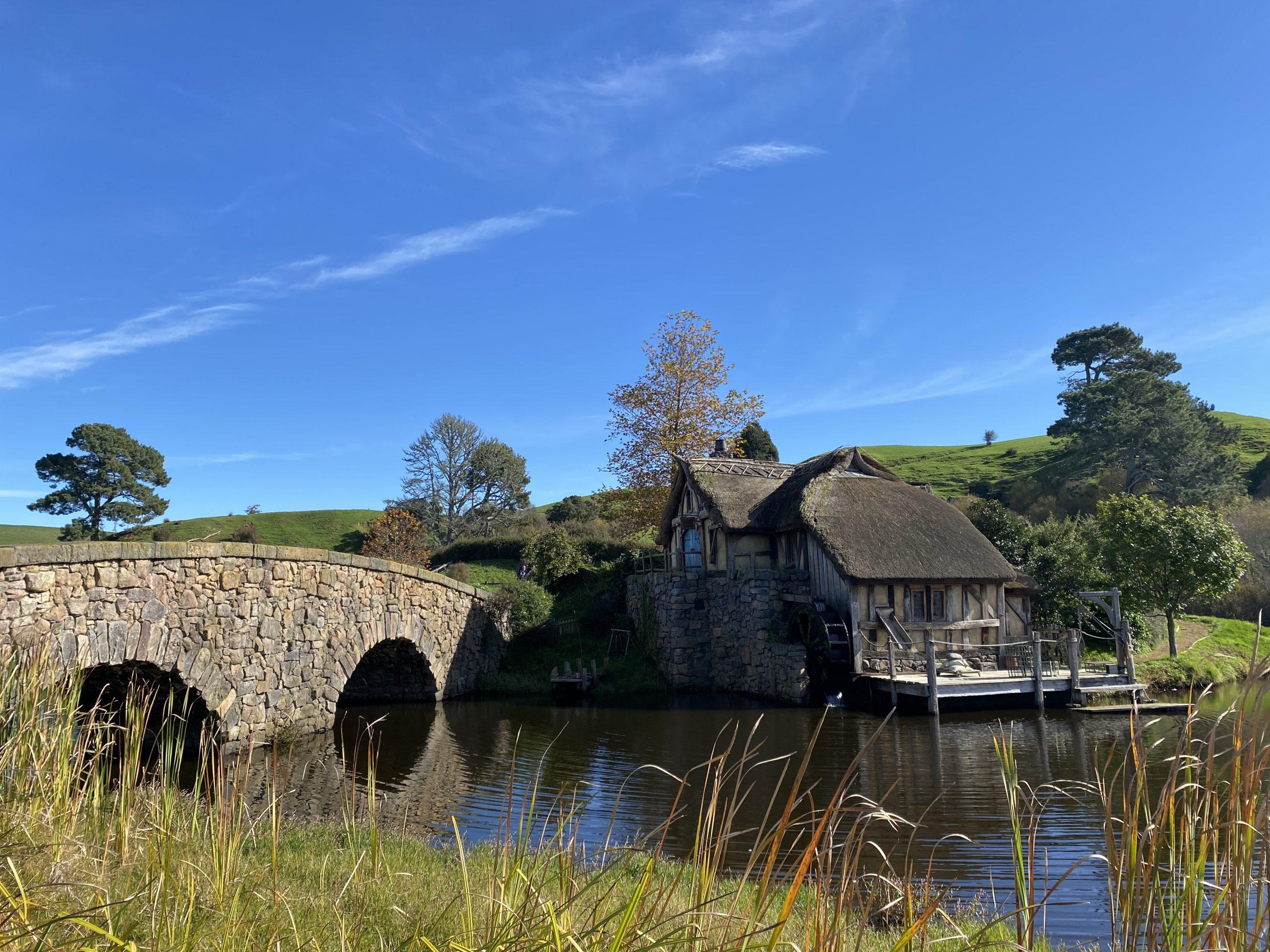 The Mill, Bridge & Millpond at Hobbiton Movie Set